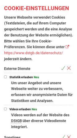 Vorschau der mobilen Webseite www.dstgb.de, Deutscher Städte- und Gemeindebund