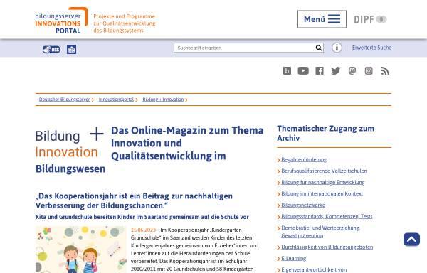 Vorschau von www.bildungsserver.de, Bildung Plus