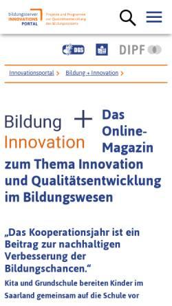 Vorschau der mobilen Webseite www.bildungsserver.de, Bildung Plus