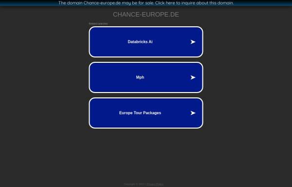 Vorschau von www.chance-europe.de, Chance Europa - Chance Europe