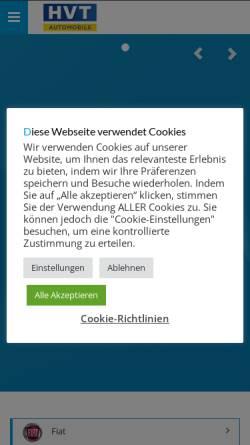 Vorschau der mobilen Webseite www.hvt-automobile.de, HVT Automobile GmbH