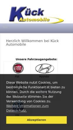Vorschau der mobilen Webseite www.euro-auto-kueck.de, Kück EU-Automobile GmbH