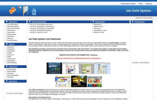 Vorschau von www.spielendverdienen.de, Um Geld spielen