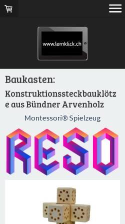 Vorschau der mobilen Webseite www.lernklick.ch, Andreas Streiff