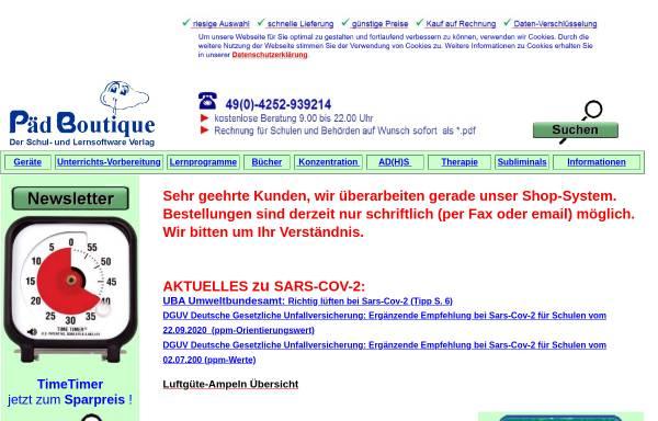 Vorschau von www.paedboutique.de, PädBoutique, Inhaberin Birgit Wollert
