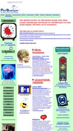 Vorschau der mobilen Webseite www.paedboutique.de, PädBoutique, Inhaberin Birgit Wollert