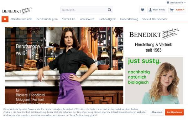 Vorschau von www.benedikt-berufskleidung.de, Josef Benedikt, Inhaber Frank Benedikt