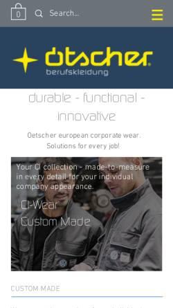 Vorschau der mobilen Webseite www.onlineshop-oetscher.com, Ötscher Berufskleidung Götzl GmbH