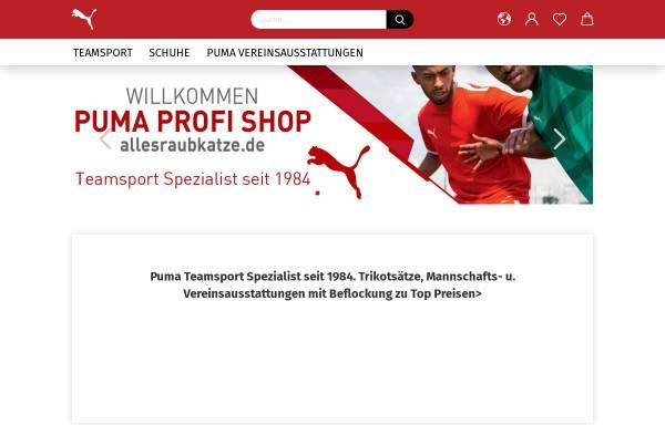 Vorschau von www.allesraubkatze.de, Puma Profi Shop