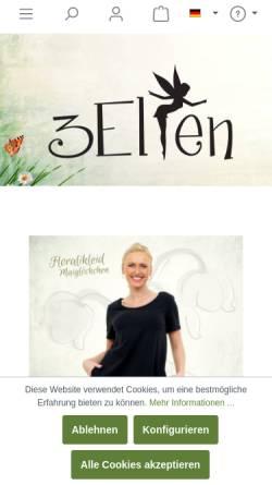Vorschau der mobilen Webseite www.3elfen.de, 3Elfen, Maxie Klugow