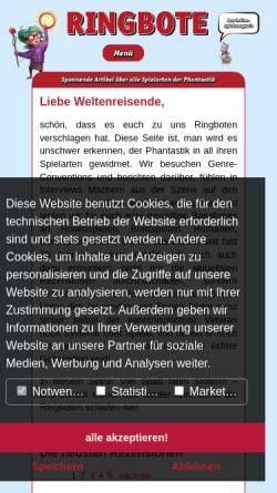 Vorschau der mobilen Webseite www.ringbote.de, Ringbote