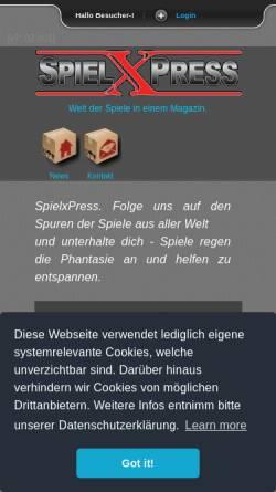 Vorschau der mobilen Webseite www.spielxpress.com, SpielxPress
