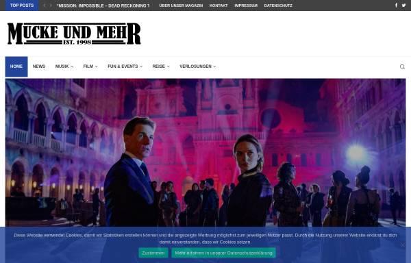 Vorschau von www.mucke-und-mehr.de, Mucke und mehr