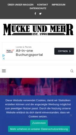Vorschau der mobilen Webseite www.mucke-und-mehr.de, Mucke und mehr
