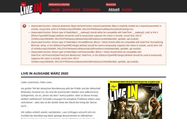Vorschau von www.live-in.net, Allgäu Live In