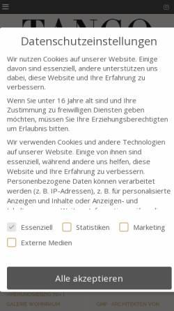 Vorschau der mobilen Webseite tango-online.de, Tango