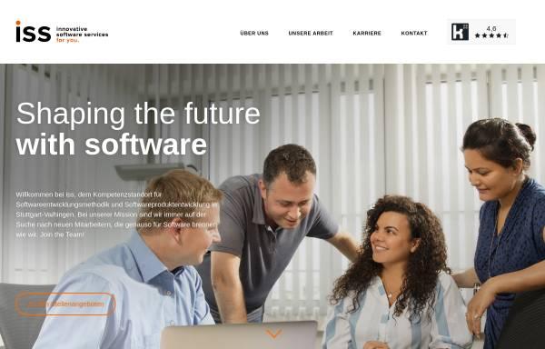 Vorschau von www.iss-stuttgart.de, iss innovative software services GmbH