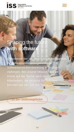 Vorschau der mobilen Webseite www.iss-stuttgart.de, iss innovative software services GmbH