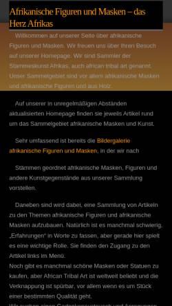 Vorschau der mobilen Webseite www.afrika-figuren.de, afrika-figuren.de