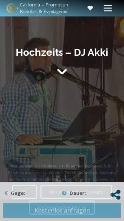 Vorschau der mobilen Webseite www.dj-halle.de, DJ Akki - California-Diskothek