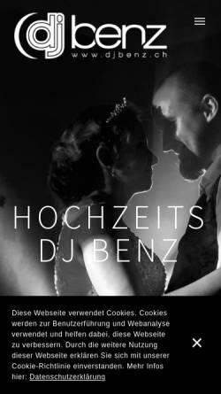 Vorschau der mobilen Webseite www.djbenz.ch, DJ Benz
