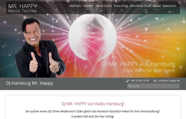 Vorschau von www.mr-happy.de, DJ Mister Happy