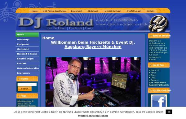 Vorschau von www.dj-roland-hochzeit.de, DJ Roland