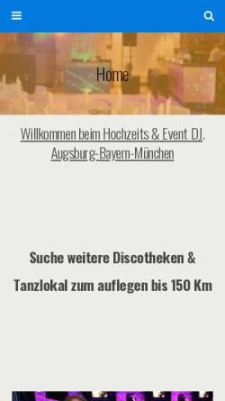 Vorschau der mobilen Webseite www.dj-roland-hochzeit.de, DJ Roland