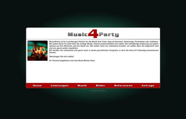 Vorschau von www.music4party.de, Music 4 Party