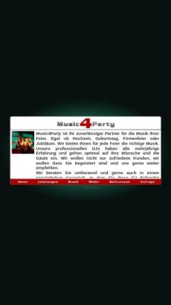 Vorschau der mobilen Webseite www.music4party.de, Music 4 Party