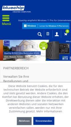 Vorschau der mobilen Webseite www.bluechip.de, Bluechip Computer AG