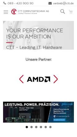 Vorschau der mobilen Webseite www.ctt.de, CTT