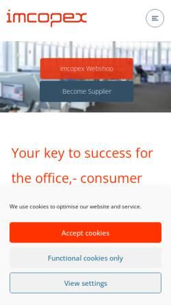 Vorschau der mobilen Webseite www.imcopex.com, imcopex Office Supplies GmbH