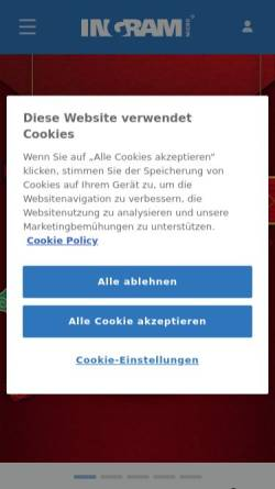 Vorschau der mobilen Webseite de.ingrammicro.eu, Ingram Micro