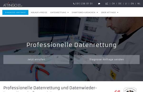 Vorschau von www.attingo.com, Attingo Datenrettung GmbH