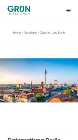 Vorschau der mobilen Webseite www.data-recovery.de, Datenrettung Berlin | data-recovery.de