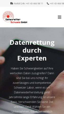 Vorschau der mobilen Webseite datenretter-schweiz.ch, Datenretter-Schweiz GmbH