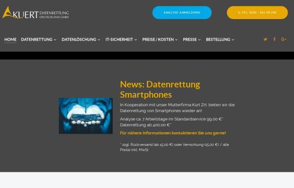 Vorschau von www.kuert-datenrettung.de, Kuert Datenrettung Deutschland GmbH