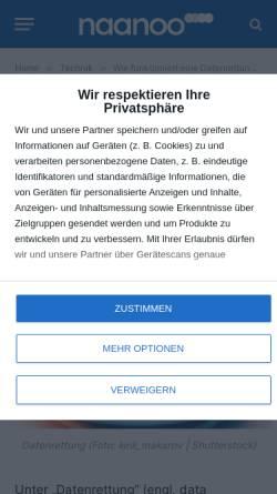 Vorschau der mobilen Webseite www.datensicherheit-online.de, Online-Magazin Datensicherheit
