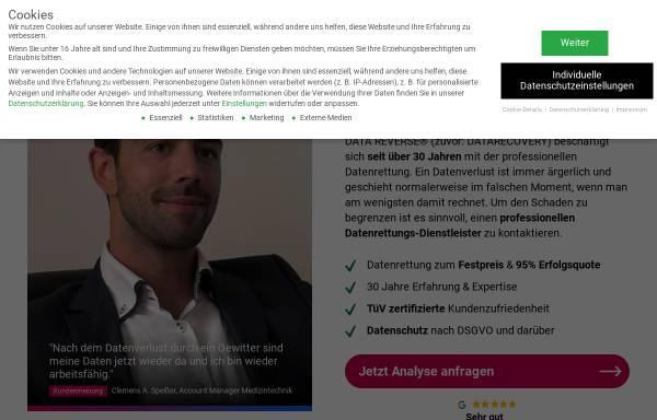 Vorschau von www.datarecovery-datenrettung.de, SDR Data Recovery GmbH