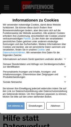 Vorschau der mobilen Webseite www.tecchannel.de, tecChannel : Professionelle Datenrettung