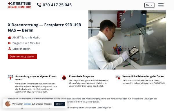 Vorschau von www.xdatenrettung.de, X Datenrettung