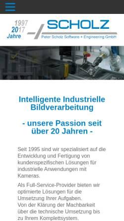 Vorschau der mobilen Webseite www.scholzsue.de, Peter Scholz Software + Engineering GmbH