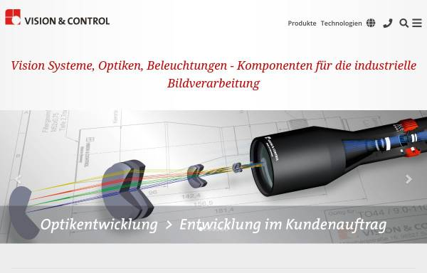 Vorschau von www.vision-control.com, Vision & Control GmbH