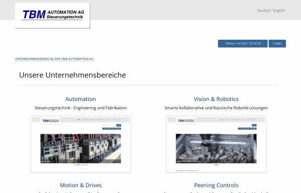 Vorschau von www.tbm.ch, TBM Automation AG