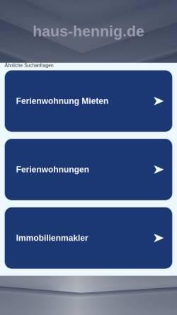 Vorschau der mobilen Webseite www.haus-hennig.de, Haus Hennig