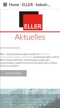 Vorschau der mobilen Webseite www.eller-industriesteuerungen.de, Eller Industriesteuerungen, Inh. Thomas Eller