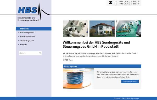 Vorschau von www.hbsgmbh.de, HBS Sondergeräte und Steuerungsbau GmbH