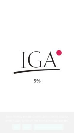 Vorschau der mobilen Webseite www.iga.de, IGA mbH