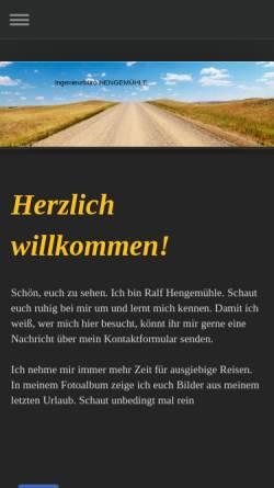 Vorschau der mobilen Webseite www.go-ibh.de, Ingenieurbüro Hengemühle